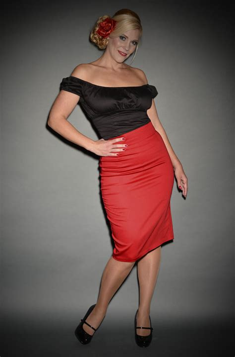 pin up pencil skirt in