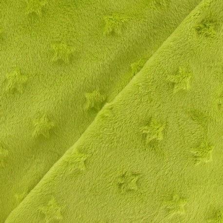 lime x net soft relief minkee velvet fabric lime x 10cm ma mercerie