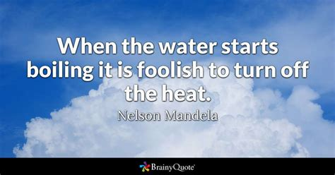 biography nelson mandela en ingles when the water starts boiling it is foolish to turn off