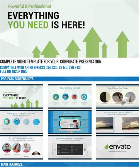 professional after effects templates powerful and professional corporate presentation 8399581