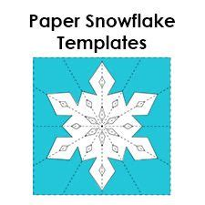 Make Your Own Paper Snowflake - 25 best ideas about paper snowflake template on