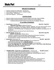Data Migration Specialist Sle Resume by Resume