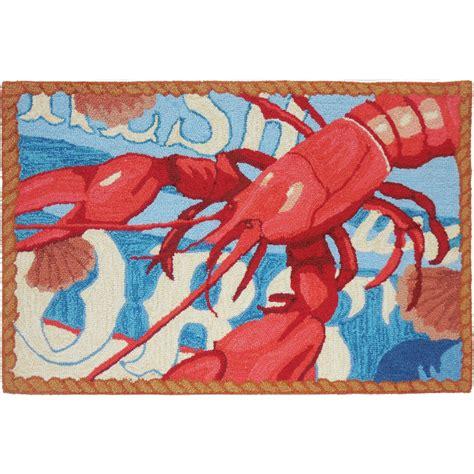 lobster rug fresh catch lobster accent rug