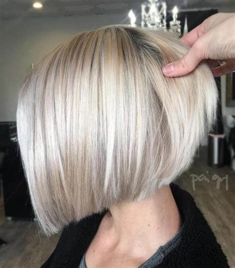angled bob with waves for 40 year old woman 50 fresh short blonde hair ideas to update your style in 2018