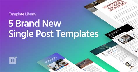 5 Brand New Wordpress Single Post Templates Elementor Single Post Template Elementor