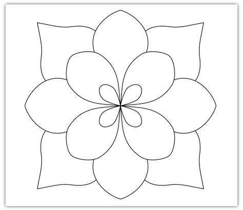 Simple Flower Template   Cliparts.co