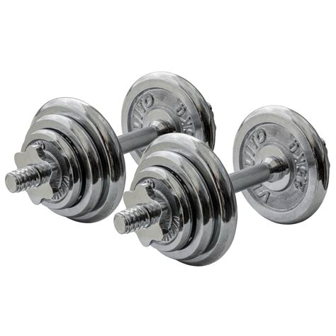 Dumbbell Set 20kg Viavito 20kg Chrome Dumbbell Set