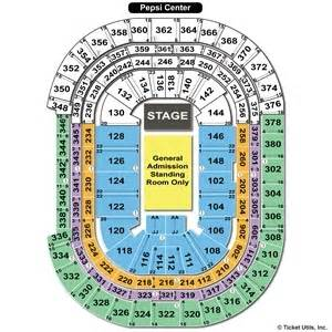 pepsi center floor plan pepsi center seating charts