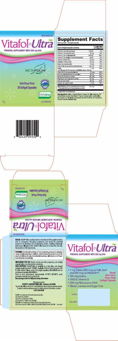 Vitafol Ultra (Everett Laboratories, Inc.): FDA Package Insert, Page 2