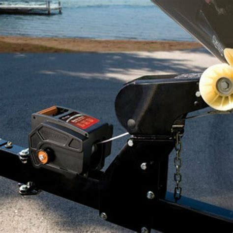 boat trailer winch lock winch towing pulling electric hitch mount truck trailer