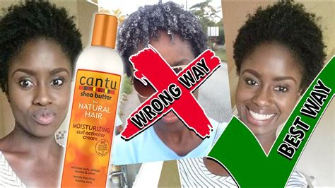 using curl activator on black hair cantu shea butter curl activator cream on dry natural hair