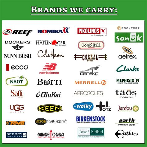 athletic shoes brands logos shoe brand list with logos images