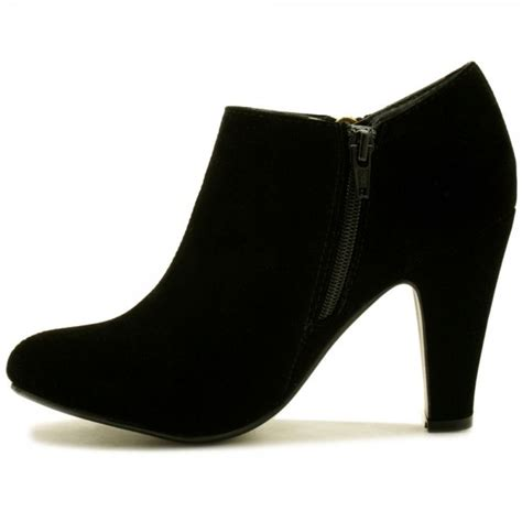 buy camille block heel zip ankle boots black