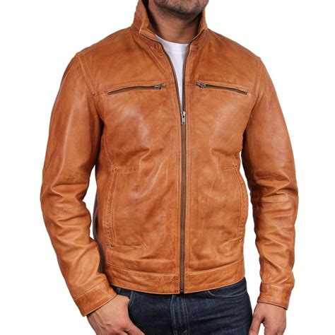 light brown leather jacket mens brown leather coat men jacketin