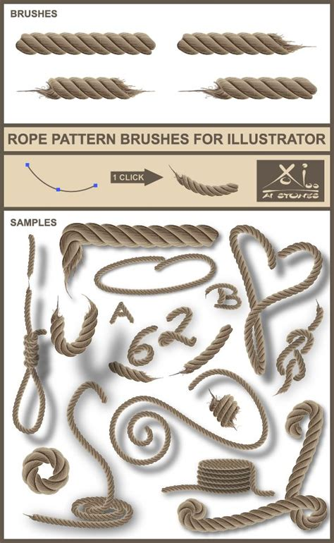 rope pattern brush photoshop 306 best illustrator add ons images on pinterest