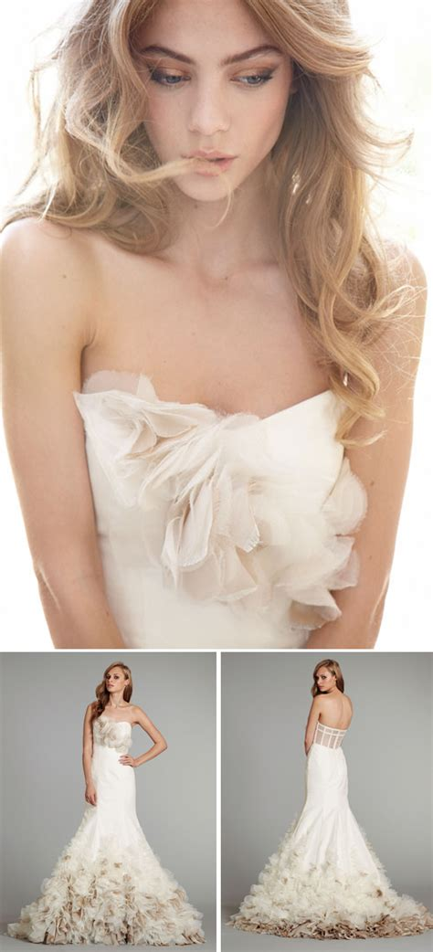 Asymmetrical Draped Skirt Wedding Gowns Hayley Paige Something Turquoise Daily