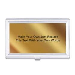 your own business cards make your own business card holder zazzle