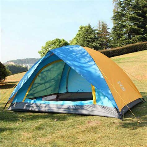 Tenda Cing Anti Panas Uv Outdoor 2 Orang aotu at6501 2 person outdoor cing tent blue orange free shipping dealextreme