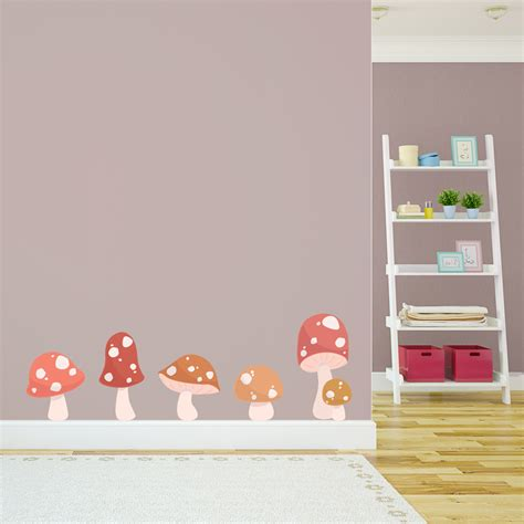 toadstool wall stickers toadstool printed wall decal