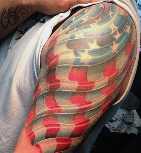 three dimensional tattoos three dimensional flag designs are the best picture