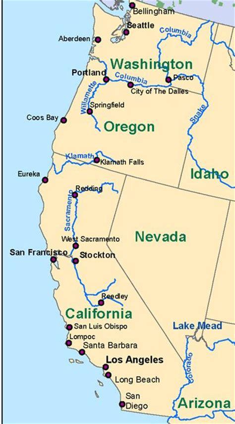 map of west coast west coast map recherche panama trip west coast