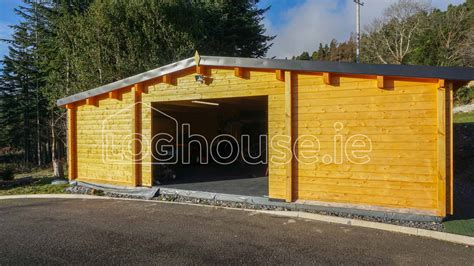 log cabin garages garage log cabin loghouse ie
