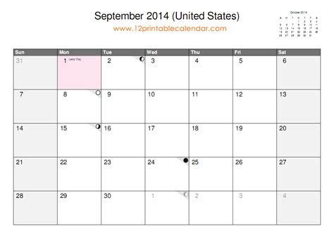 september 2014 calendar template 9 best images of september 2014 calendar printable