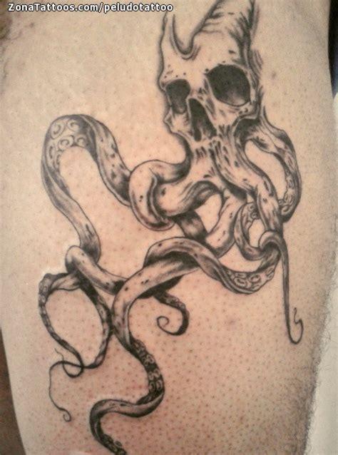 tatuaje de calaveras pulpos g 243 ticos