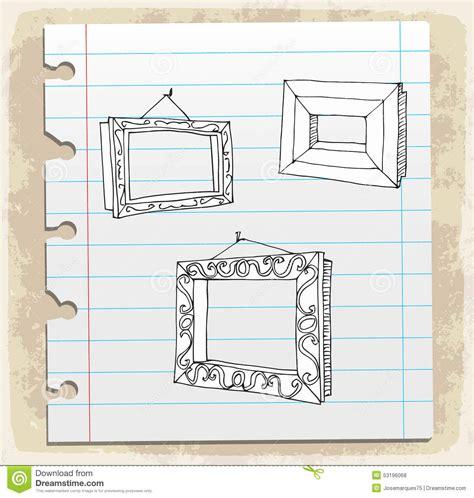 cornici disegnate cornici disegnate a mano sulla nota di carta