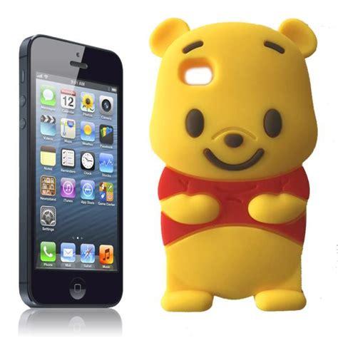 coque iphone 5c winnie 3d en silicone souple achat coque