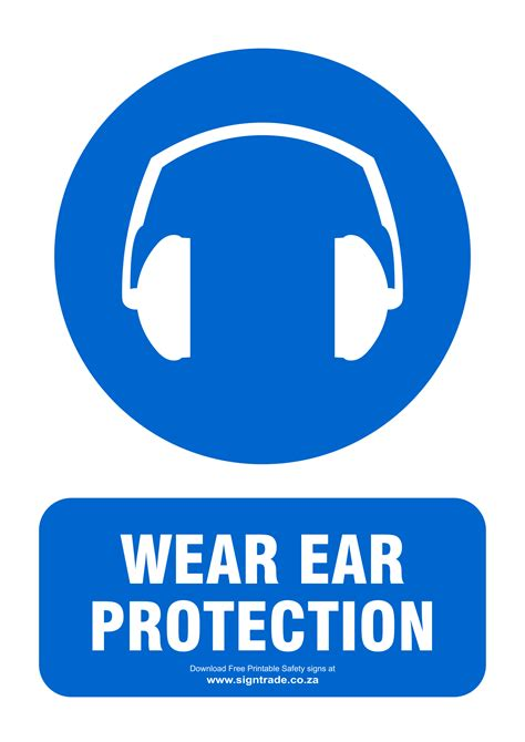 ear protection signs poster template
