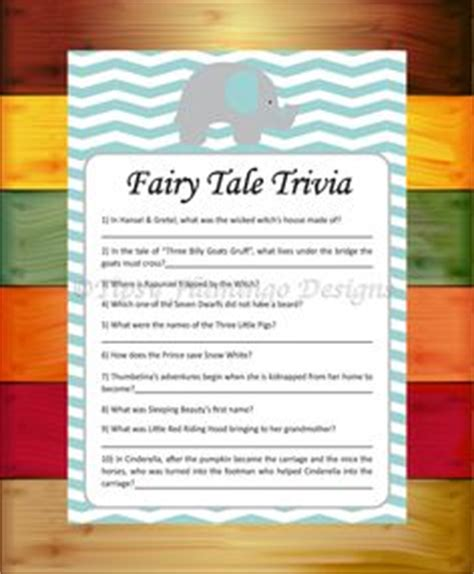 Tales Trivia Baby Shower by The World S Catalog Of Ideas