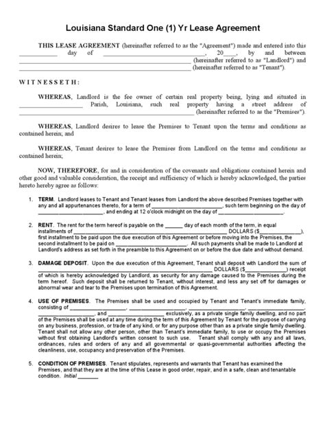 printable one year lease agreement agreements sle house rental agreement basic rental
