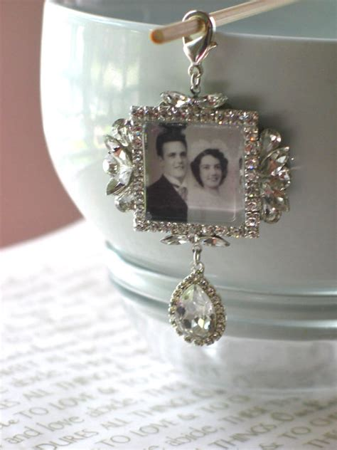 Wedding Bouquet Picture Charm by Memory Wedding Bouquet Photo Charm Bridal Bouquet Charm