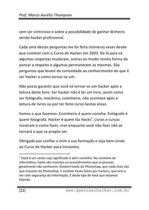 Livro Curso de Hacker para Iniciantes Capitulo 1