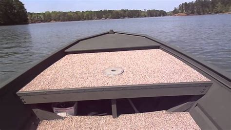 wide 12 foot jon boat wide jon boat paired with evinrude 15 hp motor youtube