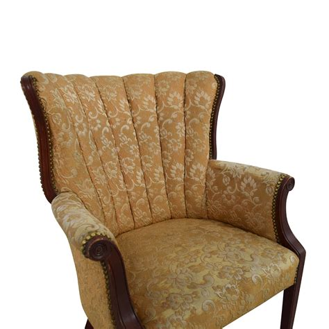yellow recliner chair 87 antique indigo yellow wingback accent chair chairs