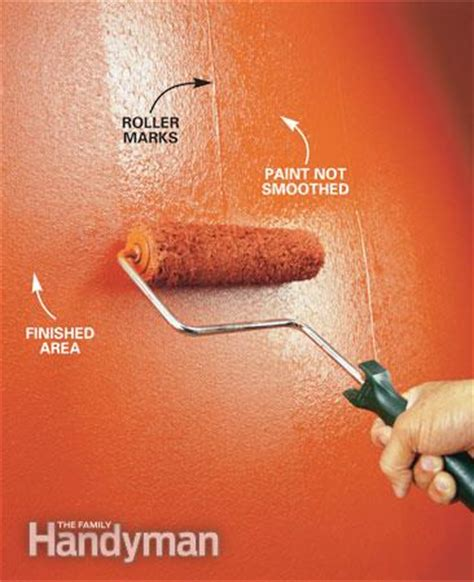 how to paint a wall using a roller the best technique paint roller techniques and tips the family handyman
