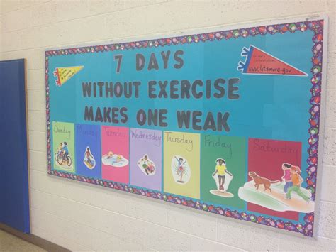 physical education bulletin board physical education
