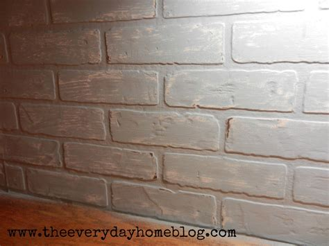 faux white brick backsplash budget friendly painted brick backsplash at the everyday home