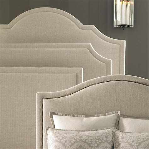 Fabric Headboard by Custom Upholstered Bonnet Headboard