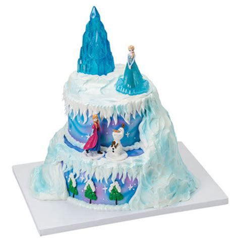 Decorating Frozen Cake by Disney Frozen Winter Magic Cake Decoration Kit Cake Topper Decoration Kits Supplies