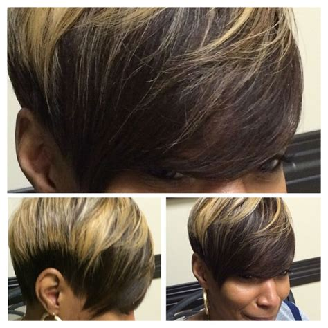 cute short sew ins full sewin weave hair extensions no glue used short
