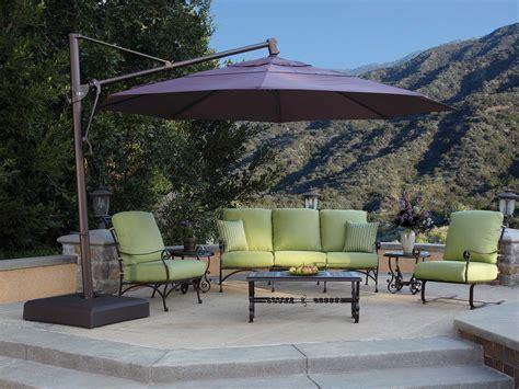 Treasure Garden Cantilever Aluminum 13 Foot Wide Crank 13 Patio Umbrella