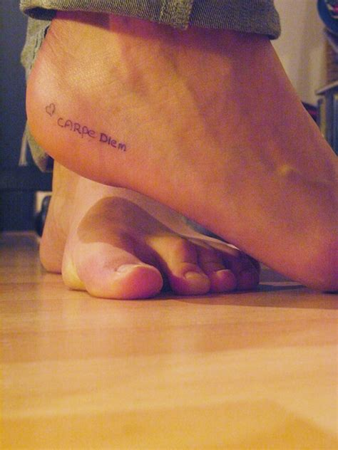 tattoo placement ankle sieze the day tattoo ideas pinterest tattoo