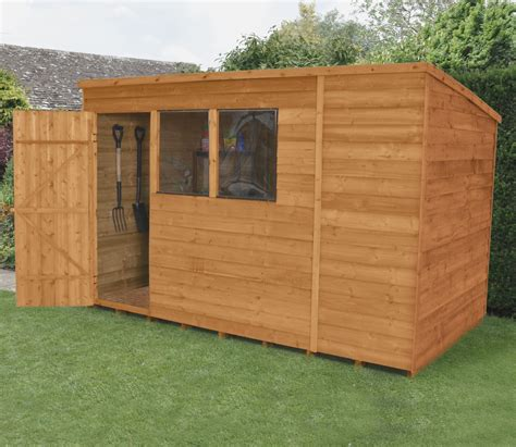 Garden Sheds 10 X 6 10 X 6 Overlap Dip Treated Pent Shed Gardensite Co Uk