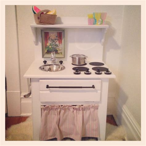 diy play kitchen from 5 side table kid stuff