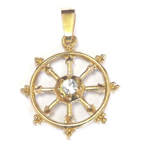 fortune wheel pendant dharmachakra 8 spoked wheel