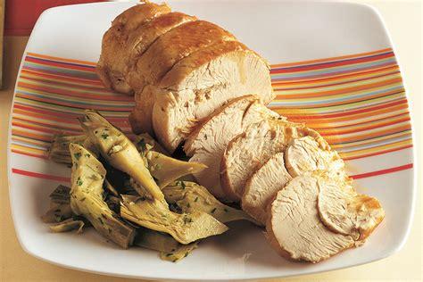 cucinare tacchino ricetta arrosto di tacchino con carciofi la cucina italiana