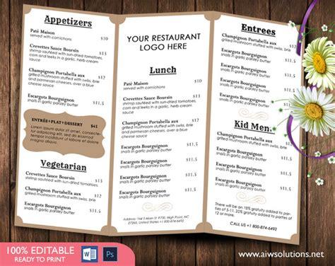food menu template brochure templates on creative market